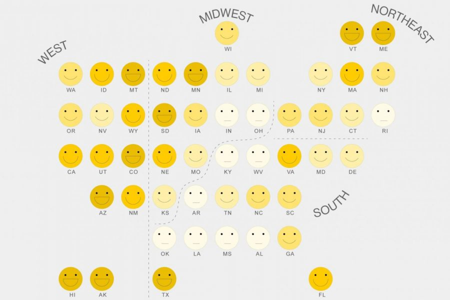 Which State Is The Happiest?